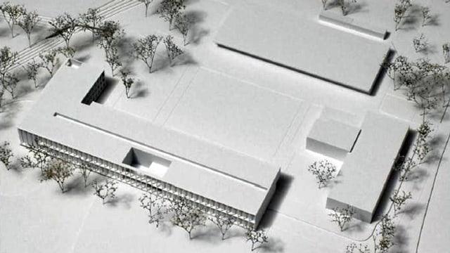 Bild eines Modells des Neubaus für das Landwirtschaftliche Zentrum Salez