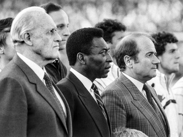 Sepp Blatter mit Pelé und João Havelange