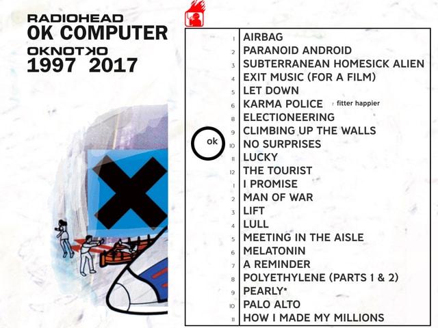 OK Computer: Reissue-Cover 2017