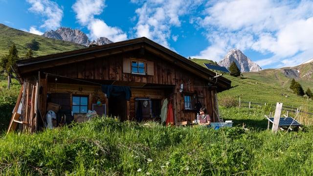 Eine Alphütte