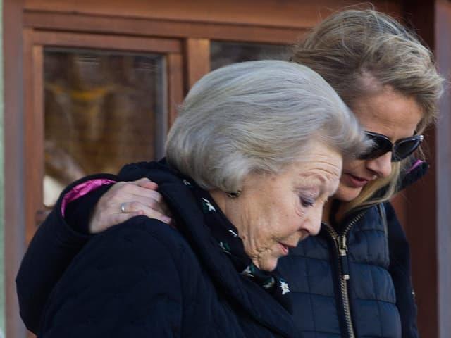 Königin Beatrix und Prinz Frisos Frau Mabel