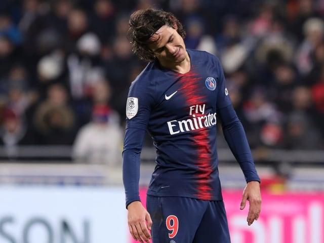 PSG-Spieler Edinson Cavani lässt den Kopf hängen.