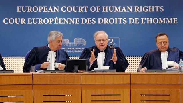 Drei Richter des Europäischen Gerichtshofs für Menschenrechte