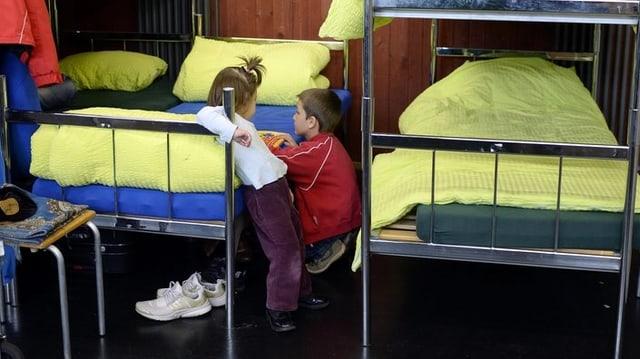 Kinder in einer Asylunterkunft