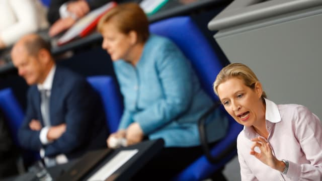AfD-Abgeordnete Alice Weidel spricht im Bundestag