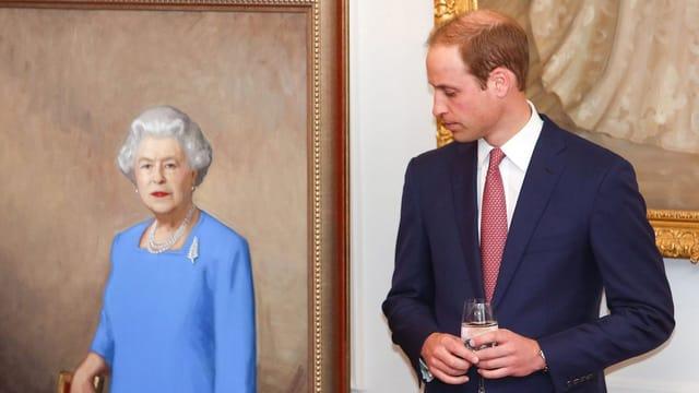 Queen und Prinz William
