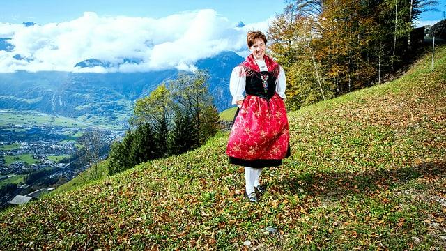 Portrait der Landfrau Theres Marty aus Bürglen, UR