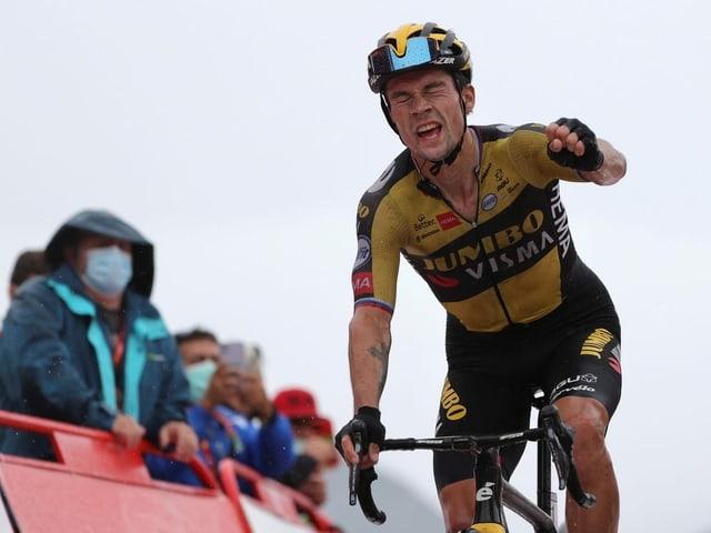 Primoz Roglic hat das Vuelta-Triple wieder fest im Blick.