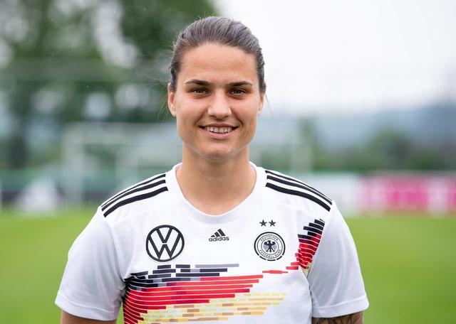 Die Mittelfeldspielerin der deutschen Nationalmannschaft Dszenifer Marozsan