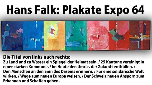 Die sieben Entwürfe von Hans Falk für die Expo 64