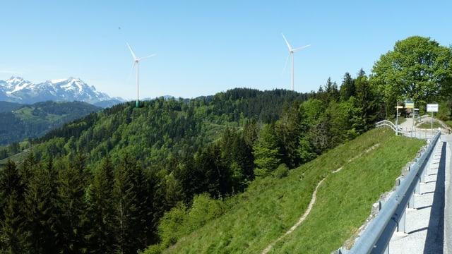 Visualisierung des Windparkprojekts in Oberegg.