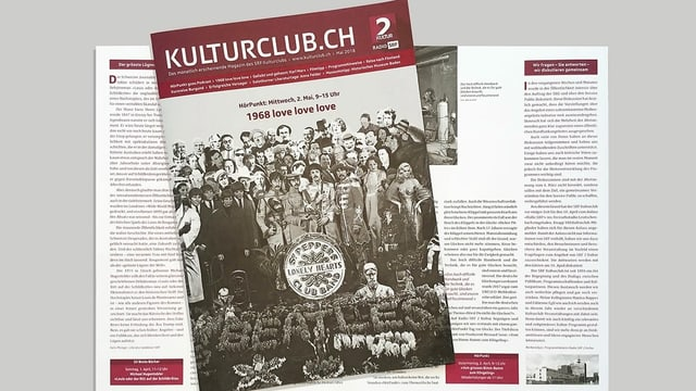 Foto eines Magazins. Auf der Titelseite sind die Beatles.