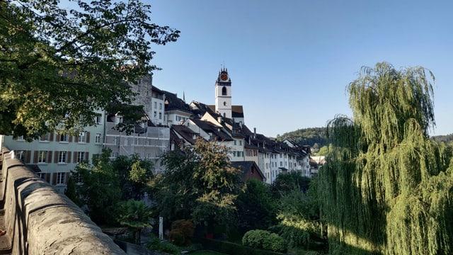 Aarauer Altstadt aus der Ferne.