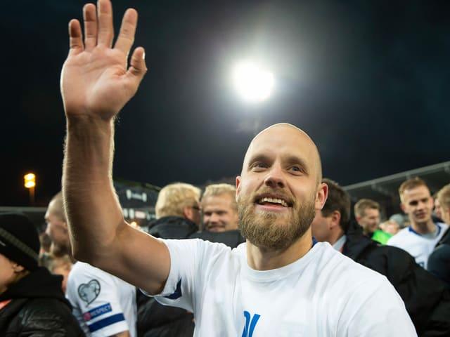 Teemu Pukki ist die Lebensversicherung der finnischen Fussballer.
