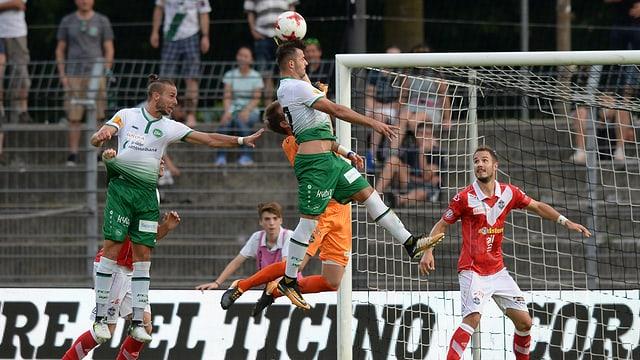 Alban Ajeti marca gist il gol decisiv per il FC Son Gagl.