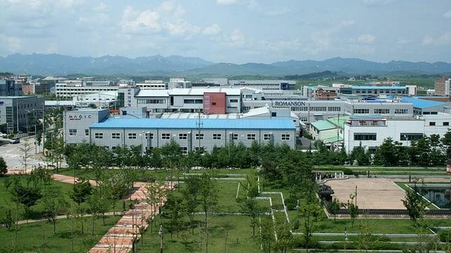 Der gemeinsame Industriepark Kaesong an der Grenze zwischen Süd- und Nordkorea.