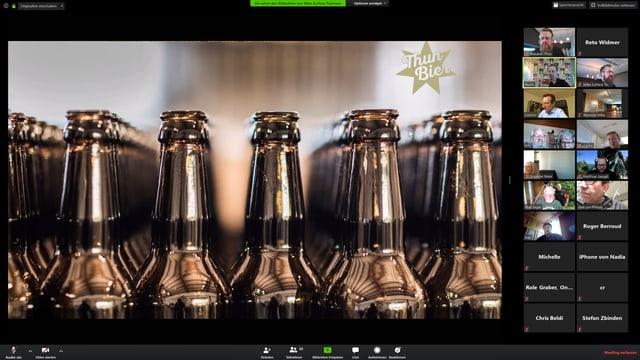 Bierparty im virtuellen Taproom.