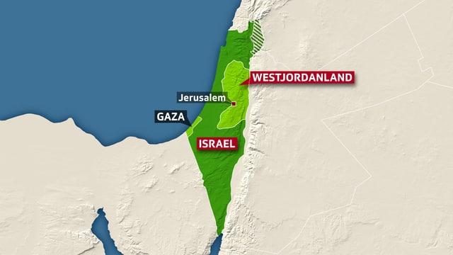 Karte Israel.