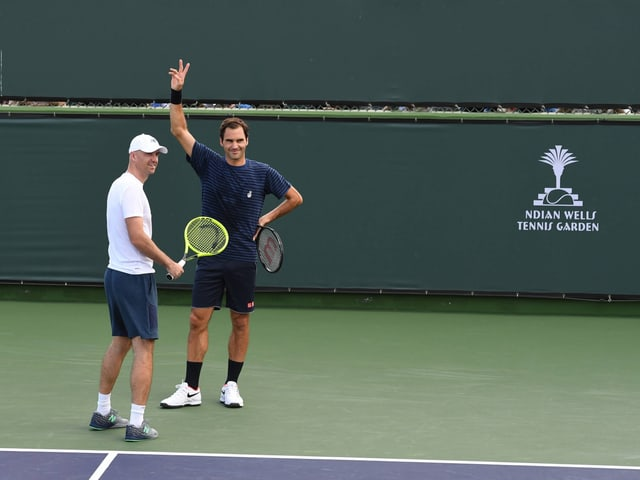 Federer beim Training