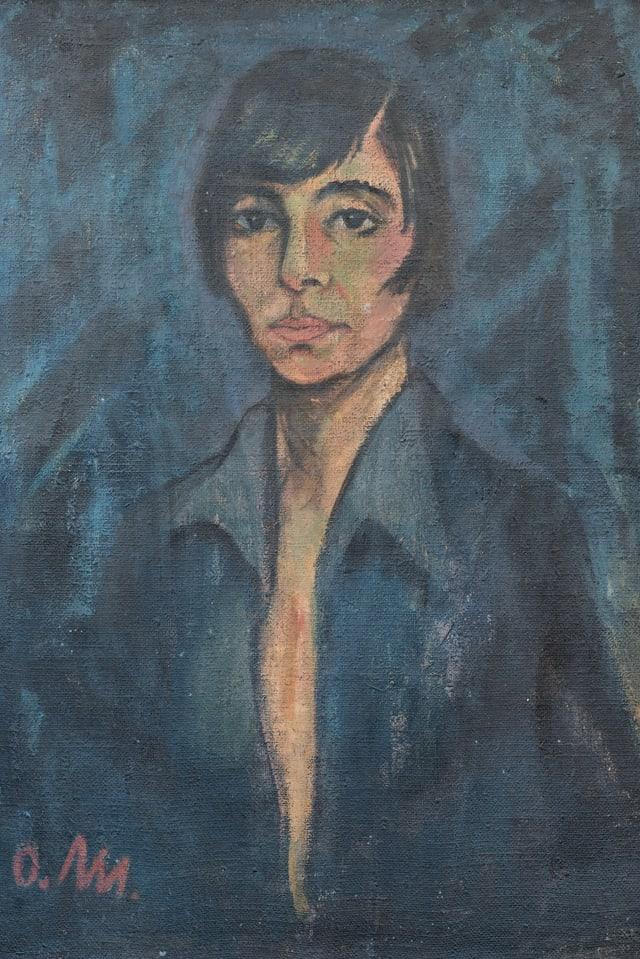 Gemaltes Porträt einer Frau.