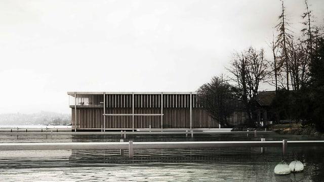 Der geplante Neubau für die Wasserschutzpolizei