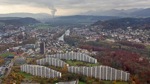 Telli Aarau, Blick gegen Westen