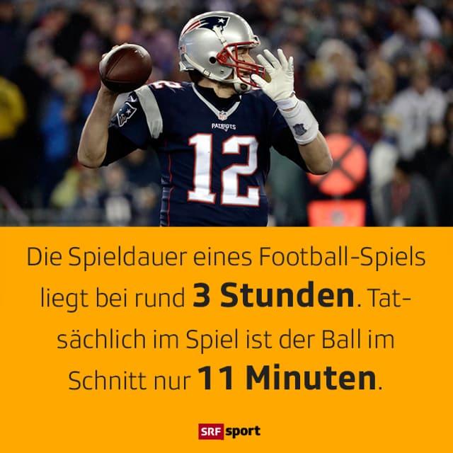 Tom Brady wirft einen Ball.