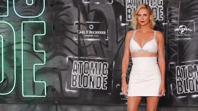 Charlize Theron auf der Premiere von «Atomic Blonde».