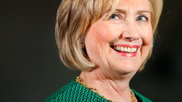 Lächelnde Hillary Clinton
