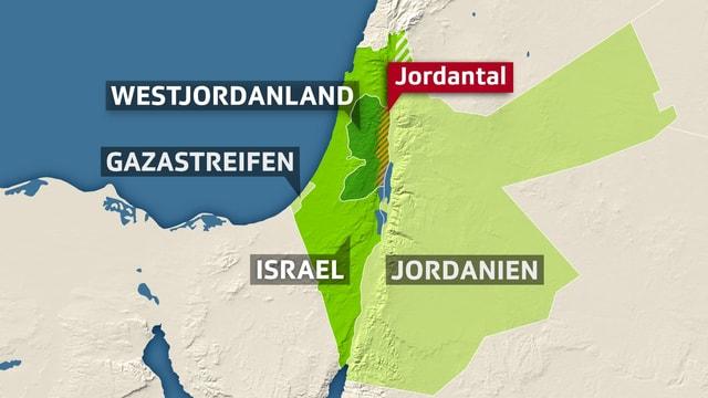 Karte mit Jordantal
