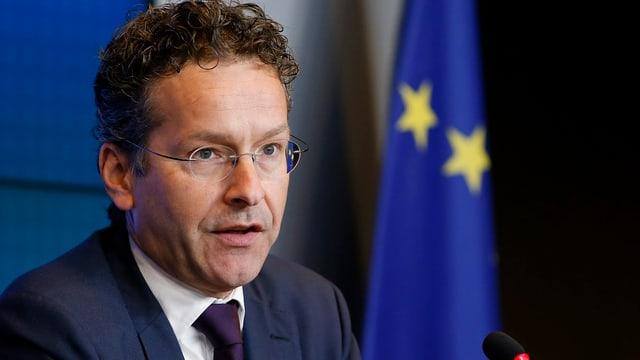 Jeroen Dijsselbloem vor EU-Fahne