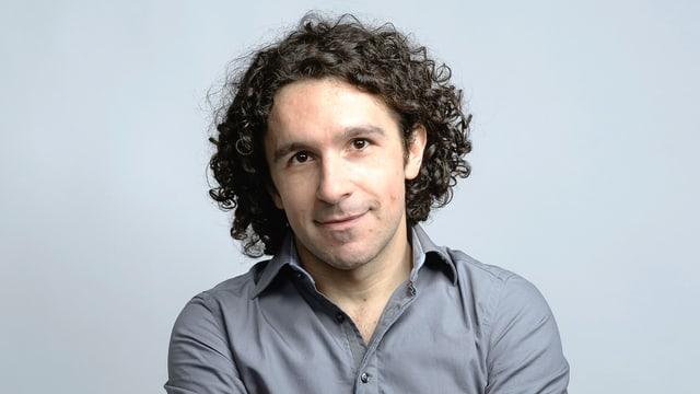Porträt des italienischen Schriftstellers Marco Balzano.