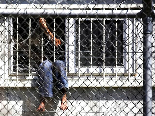 Ein Flüchtlingsjunge in einem Aufnahmelager in der Türkei.