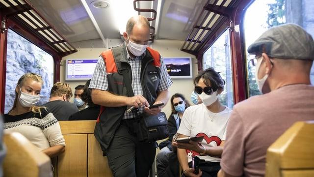 Billett-Kontrolle in den Jungfraubahnen