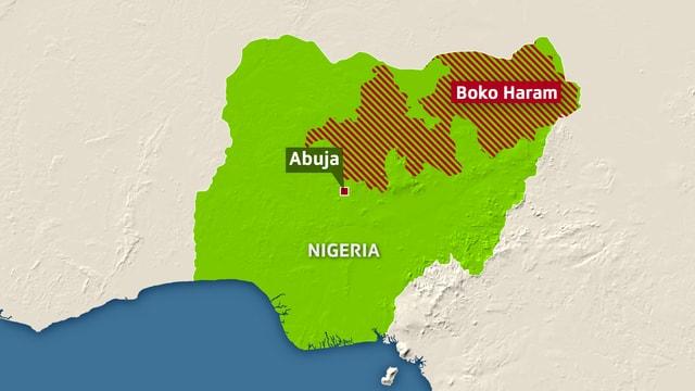 Der Nordosten Nigerias, das Einflussgebiet von Boko Haram.