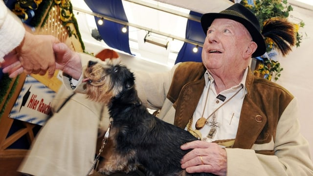 Der Zürcher Gastrokönig Fred Tschanz bei Festlichkeiten