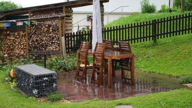 Auch im Appenzellerland gab es am Sonntagmorgen starken Regen.