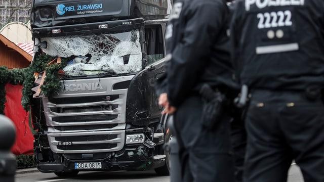 LKW, mit dem der Anschlag in Berlin ausgeführt wurde.