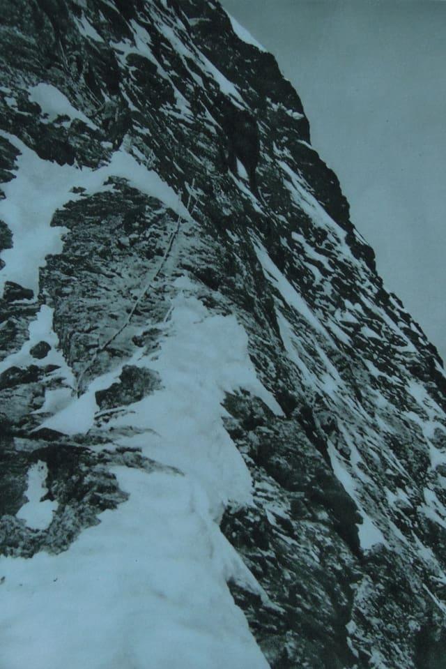 Matterhorn-Schulter. Die Absturzstelle.