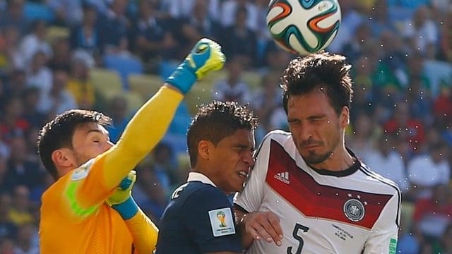 Deutschlands Vorkämpfer Hummels im Viertelfinal gegen Frankreich.