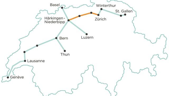 Las lingias da tren