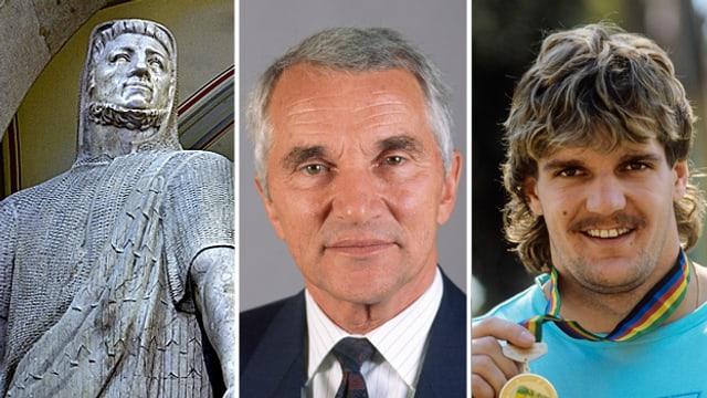 Von links nach rechts: Werner Stauffacher, Werner Vetterli und Werner Günthör.