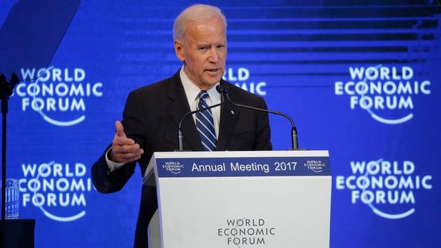 Anc-vizepresident Joe Biden durant ses ultim pled uffizial al WEF.