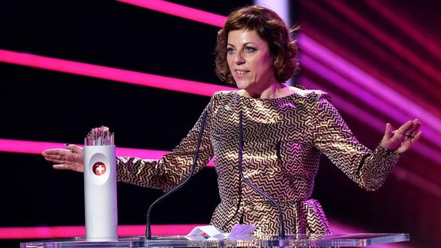 Sabine Boss an der Preisverleihung zum Swiss Award