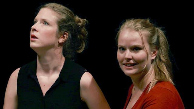 Zwei Nachwuchs-Schauspielerinnen der «Manufacture» in Lausanne.