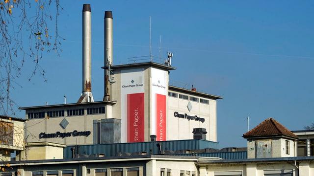 Die Fabrik der Cham Paper Group.