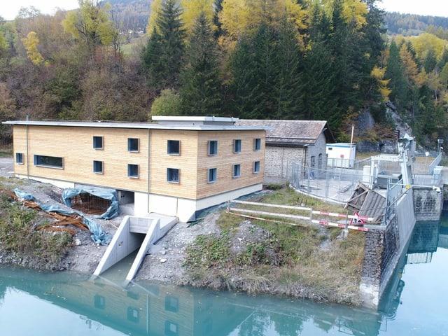 Das Kleinwasserkraftwerk Adont in der Nähe von Savognin befindet sich derzeit im Bau und soll Ende 2022 in Betrieb gehen.