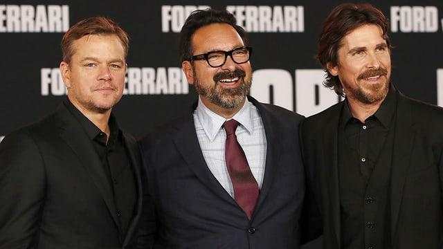 Matt Damon, James Mangold und Christian Bale