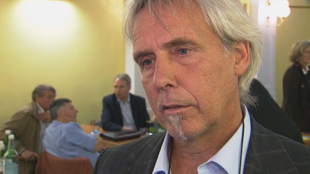 Il president communal da Trun Dumeni Tomaschett.