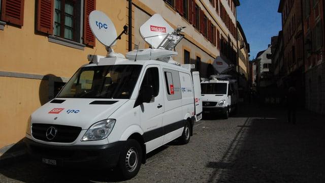 SRF-Sendewagen in Sitten.